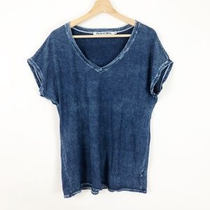 Michael Stars Indigo Wash V-Neck T-Shirt